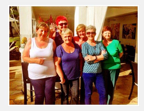 Frieda Verschueren, Lydia, Marie, Ingrid, Annita en Karine uit Mechelen