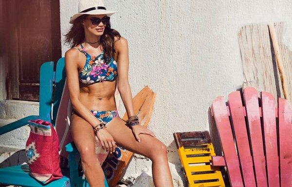 High-neck bikinitop van Banana Moon - Lingerie Ohlala